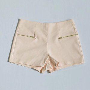 BERSHKA Pale rose high waisted shorts